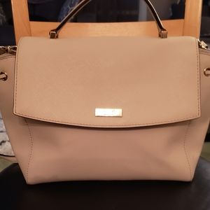 Cream Kate Spade Coated Leather Satchel